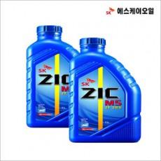 SK오일/ZIC 지크/2행정엔진오일/SK-2T/예초기오일/오토바이오일/1리터/SK2T