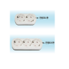 [다전전기]노출 콘센트(램프형) DEC-L02(2구/10EA)/DEC-L03(3구/10EA)